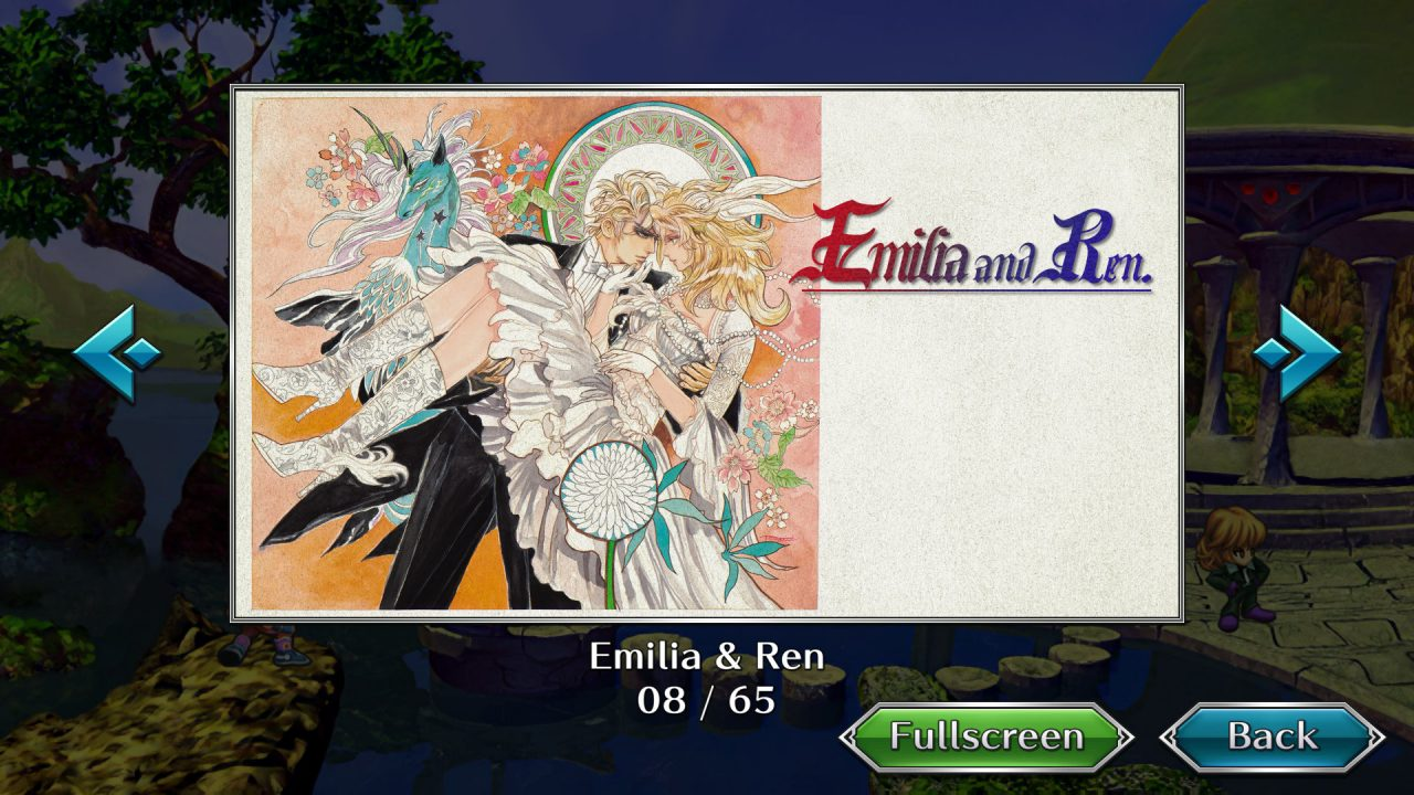 Concept art of Emilia and Ren.
