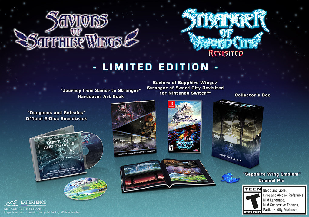 Saviors of Sapphire Wings Stranger of Sword City Revisited Cover Art (Limited Edition)