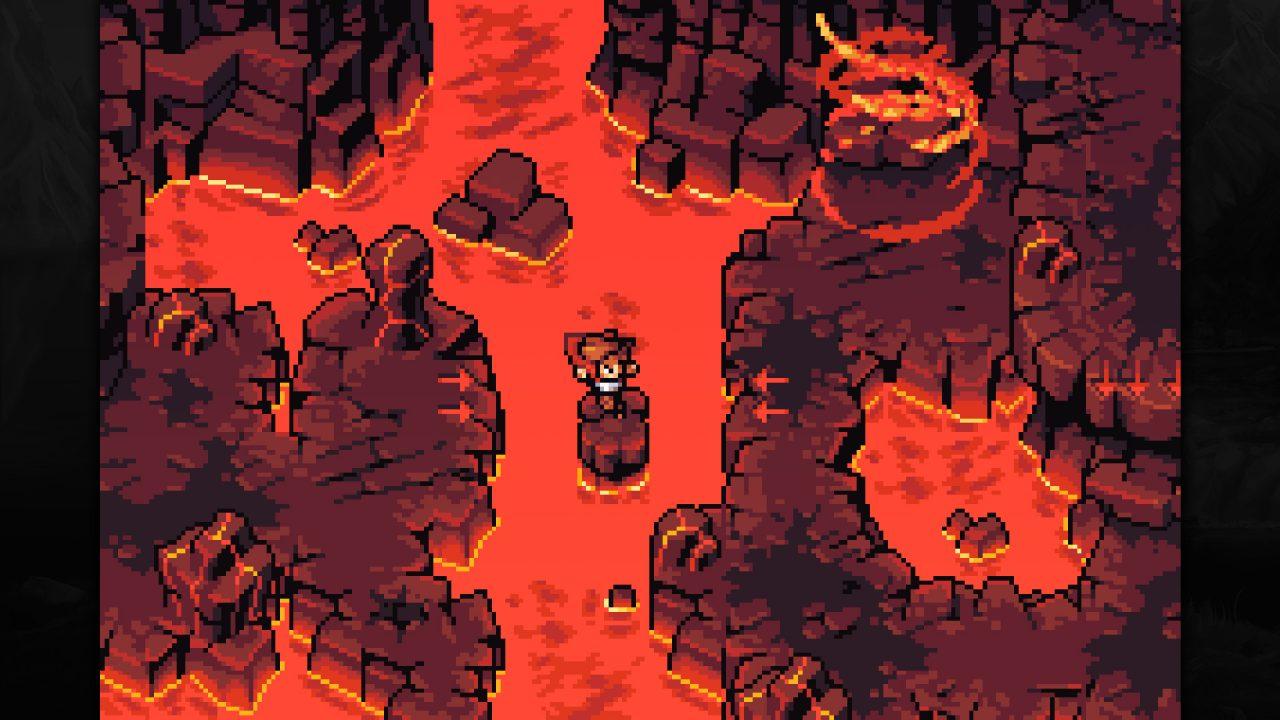 Kellan jumping across lava