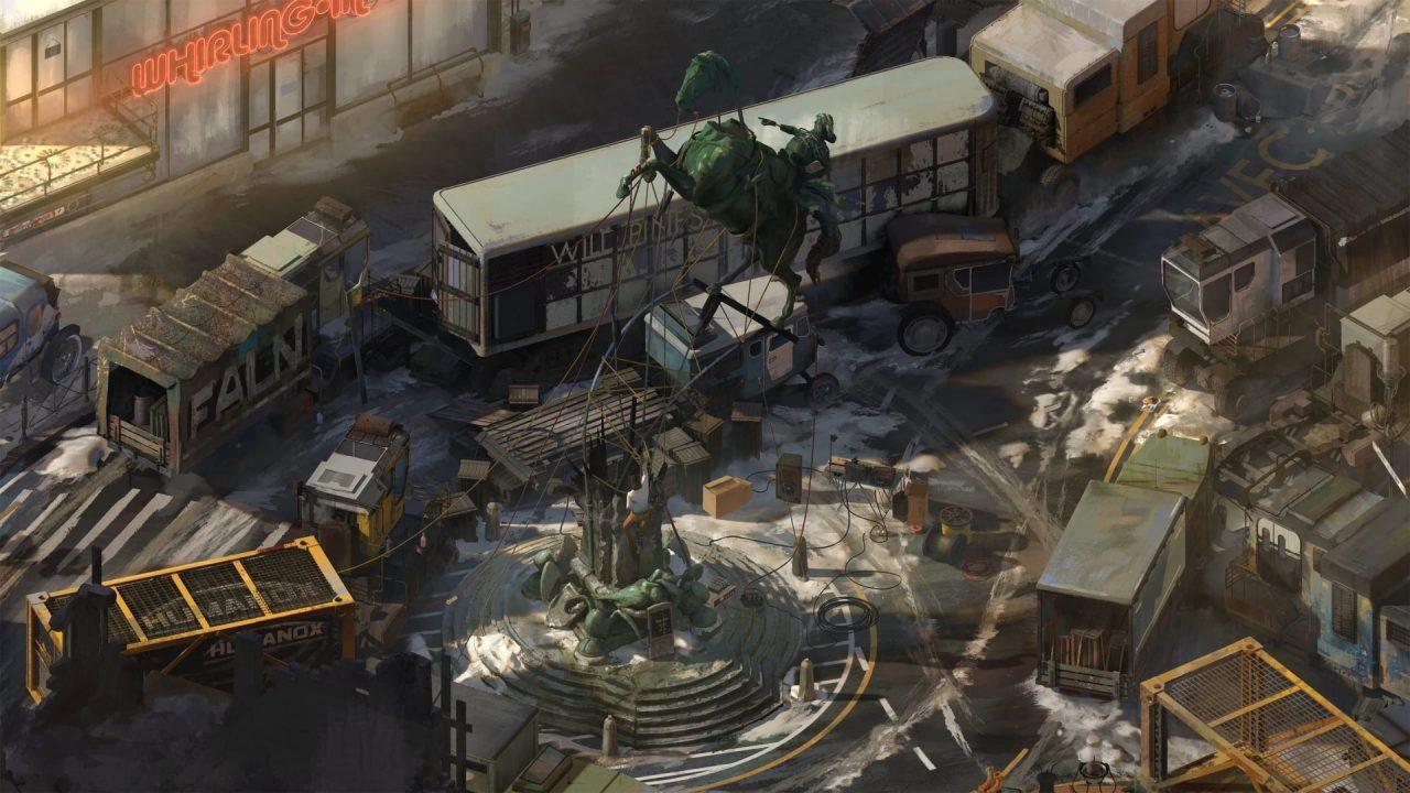 The city of Revachol in Disco Elysium: The Final Cut