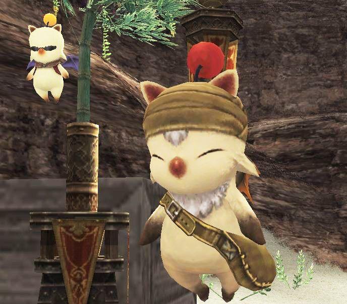 Stiltzkin, a moogle, delivers letters in Final Fantasy XI.