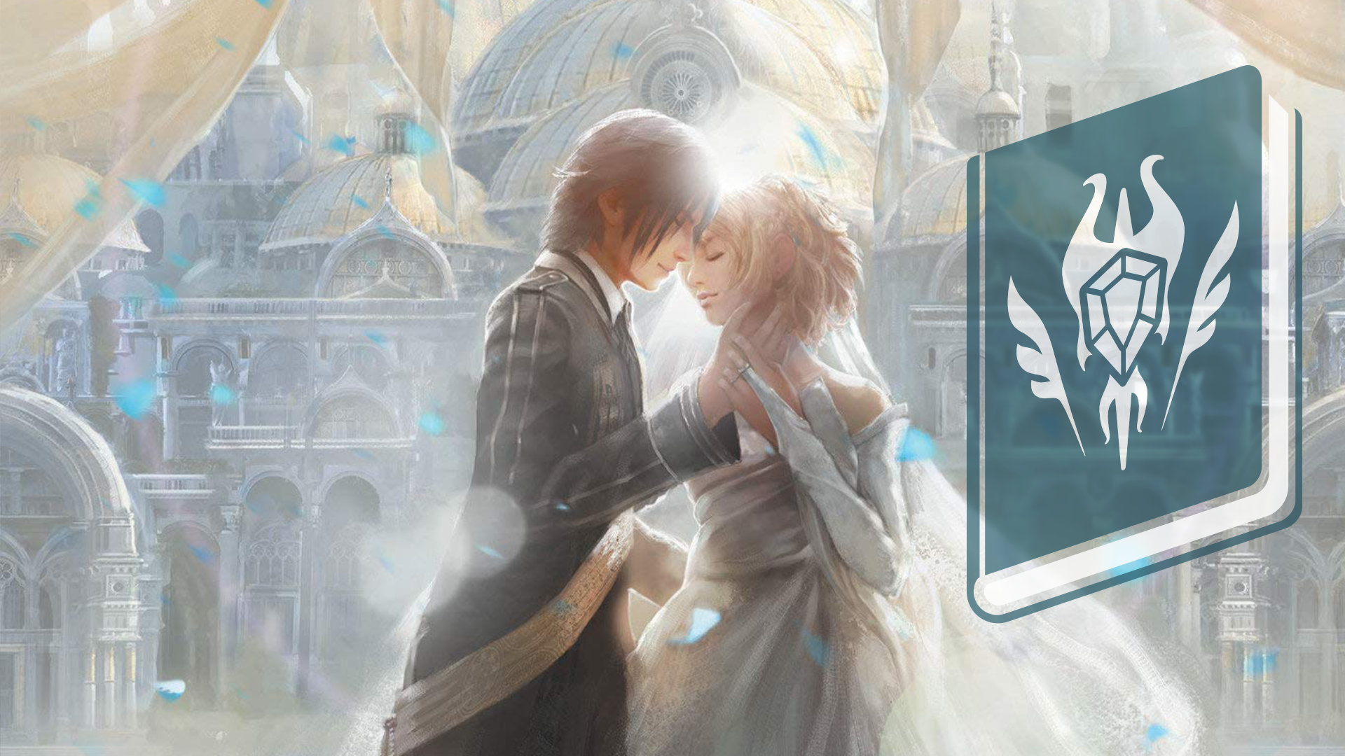 Final Fantasy XV The Dawn of the Future Wedding Artwork with RPGFan Chapters Logo