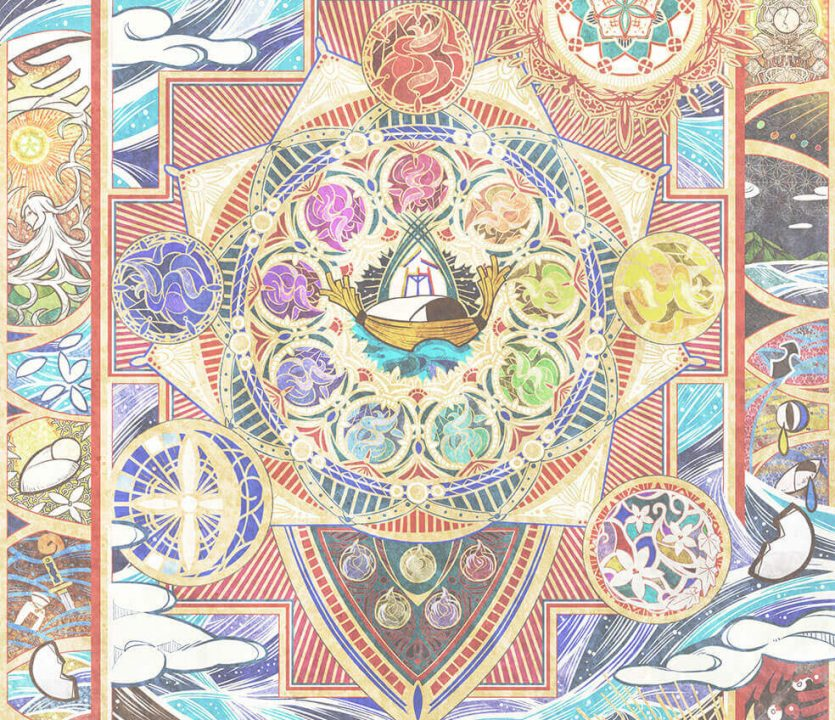 A mandala showcasing the creation of the world in Olympia Soirée.
