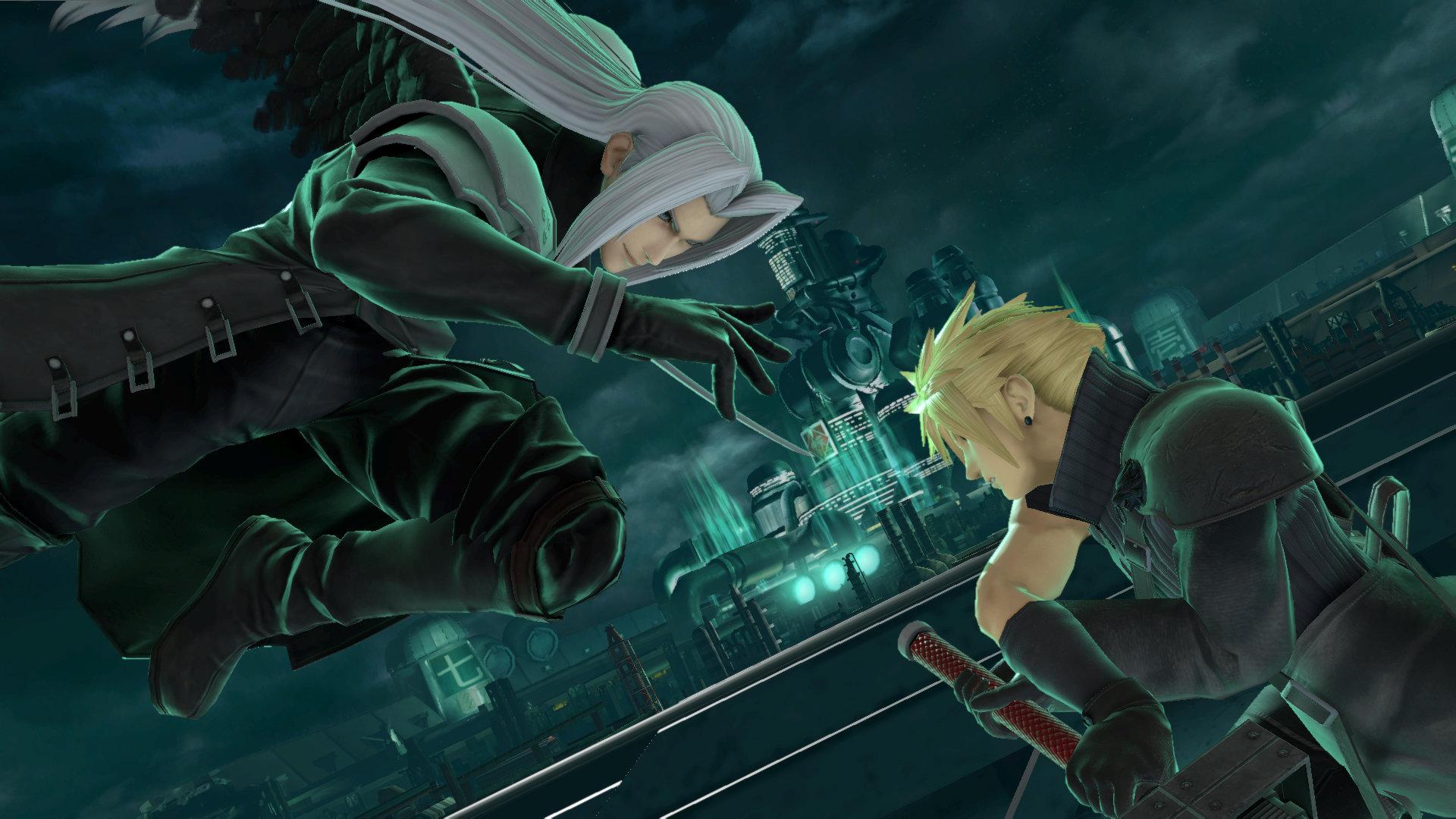 Super Smash Bros Ultimate Screenshot Sephiroth and Cloud