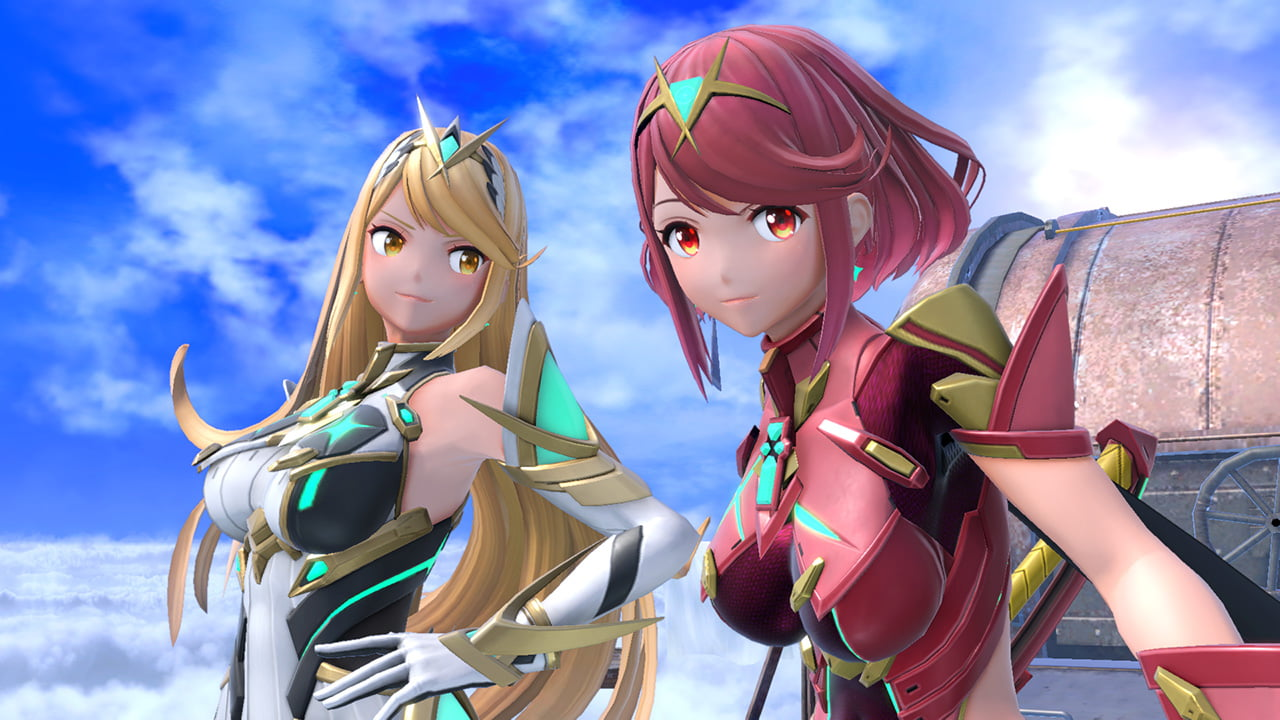 Pyra and Mythra from Xenoblade Chronicles 2 in Super Smash Bros Ultimate