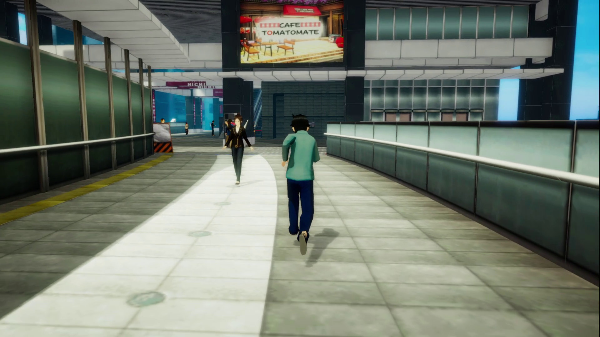 Akibas Trip Hellbound & Debriefed  Running by a subway