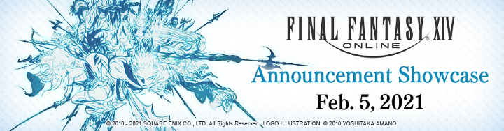The official logo for FFXIV's February 5 Announcement Showcase.