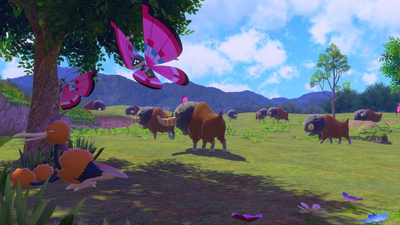 Screenshot From New Pokemon Snap Featuring A Vivillion