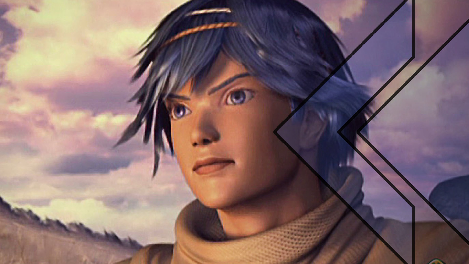 Retro Encounter 272 Baten Kaitos hero looks out in the distance during a sunset with determination.