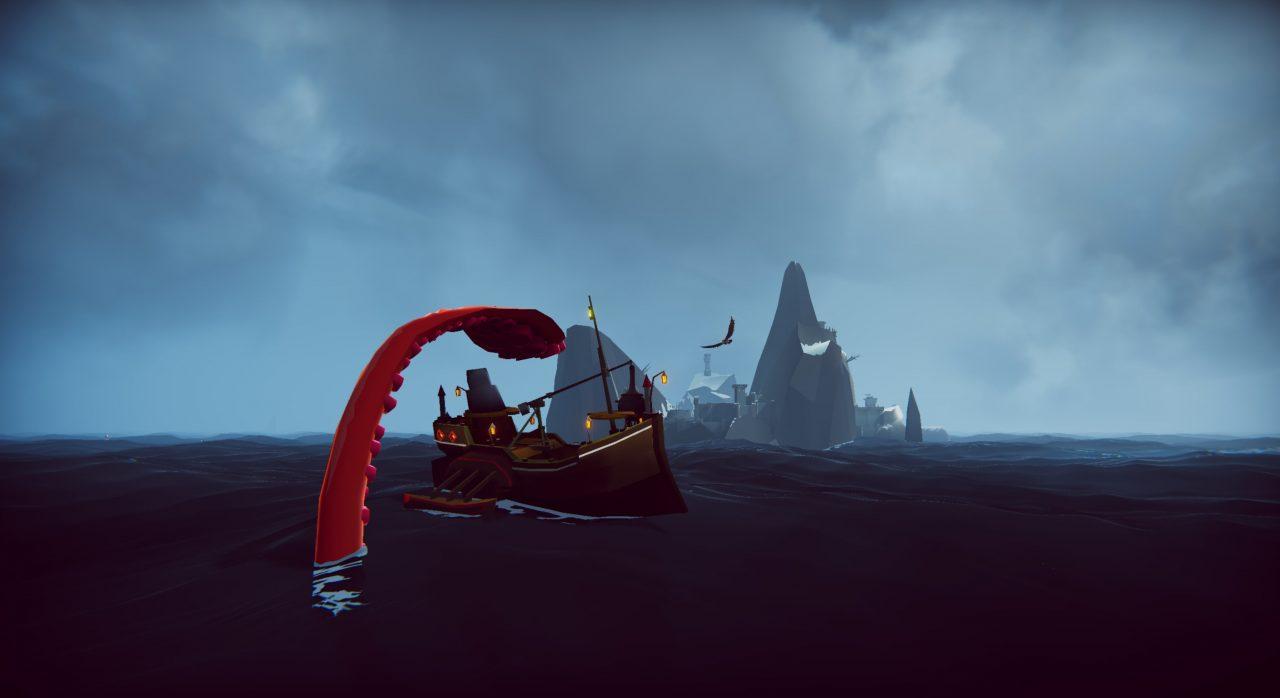 The Kraken swallowing a ship.