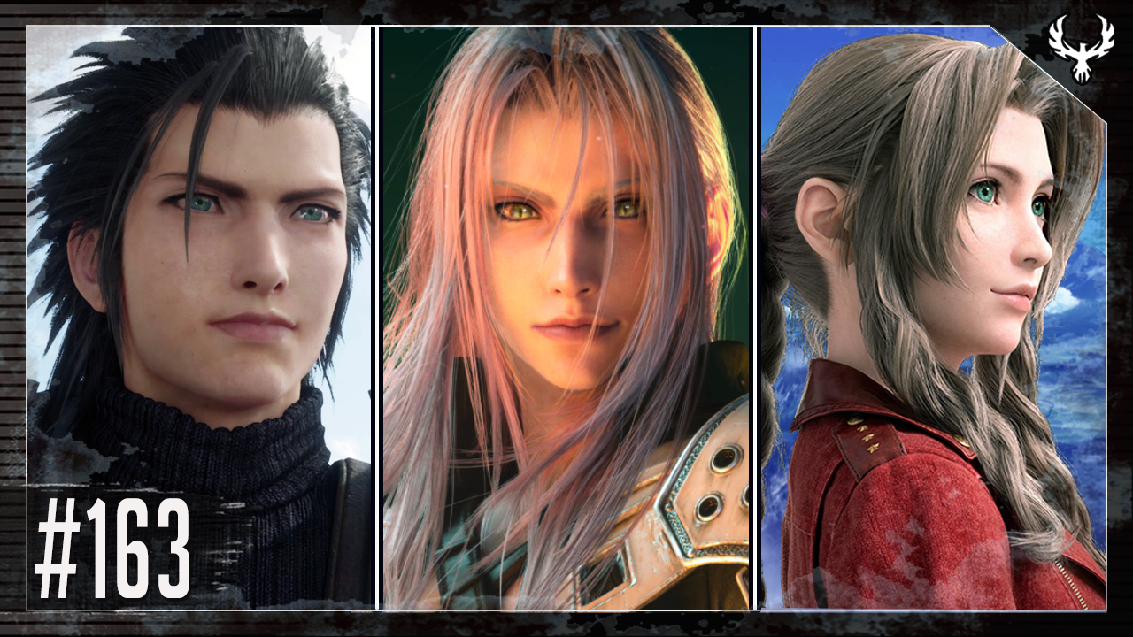 Phoenix Edge 163 image featuring Zack, Sephiroth, and Aerith from Final Fantasy VII