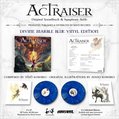 Display of covers, sleeves, and records for ActRaiser vinyl