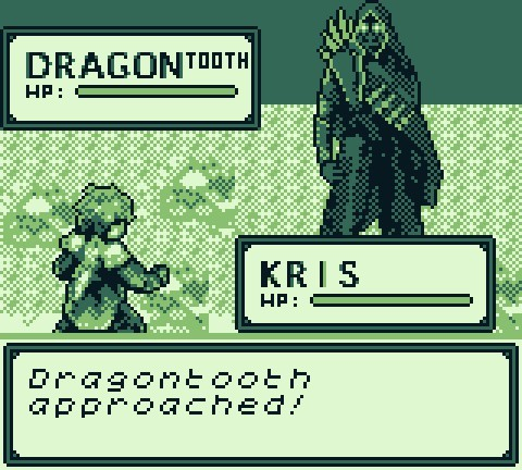 Kris fights a member of the Dragontooth Gang in Dragonborne.