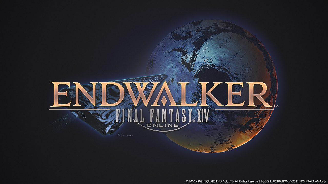 The official logo art for Final Fantasy XIV: Endwalker.