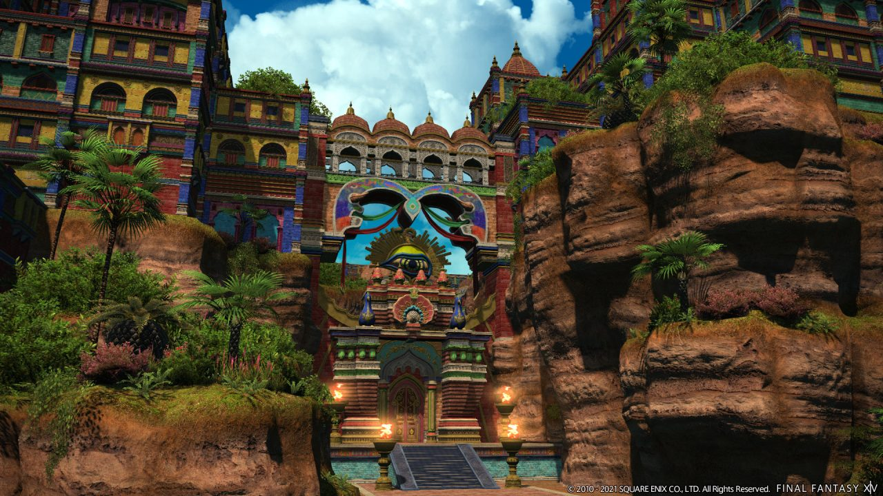 Final Fantasy XIV: Endwalker location Radz-at-Han, a city in Thavnair.