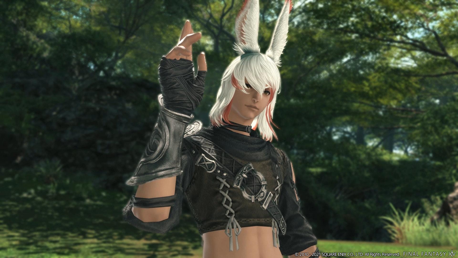 A male Viera, or bunny boy, in Final Fantasy XIV: Endwalker.