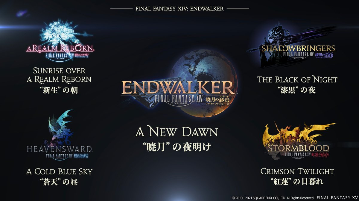 An image explaining the importance of each past expansion in Final Fantasy XIV.