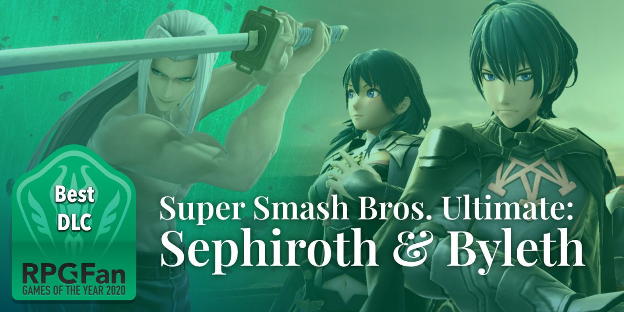 Best DLC banner featuring Sephiroth next to female and male Byleth.