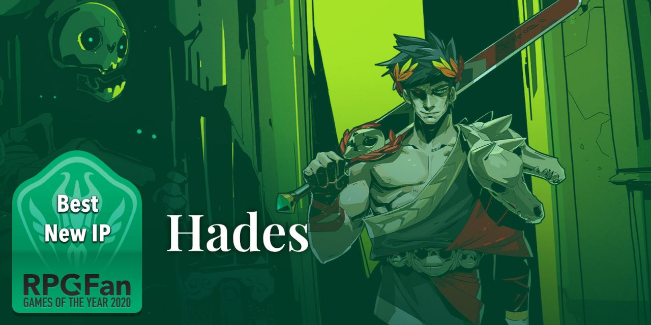 RPGFan Games of the Year 2020 banner: Best New IP: Hades