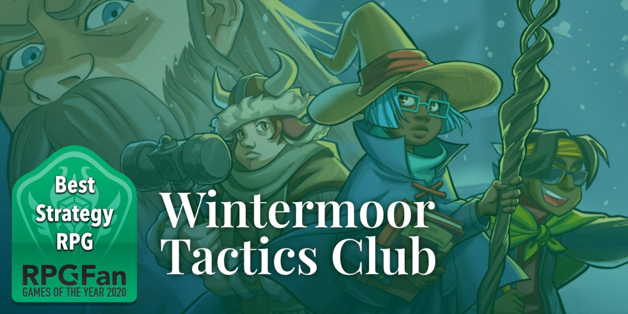RPGFan Best Strategy RPG 2020 Banner featuring an adventuring party from Wintermoor Tactics Club.