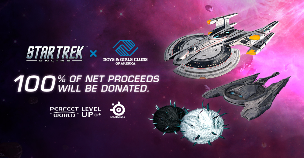 Banner Artwork For Perfect World Level Up Charity Initiative With Star Trek Online