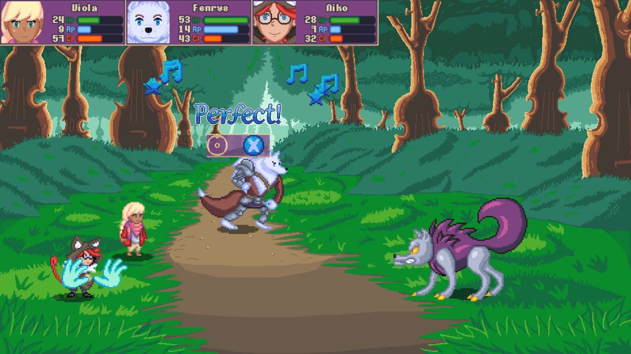 Turn-based combat plays out in Viola: The Heroine's Melody.
