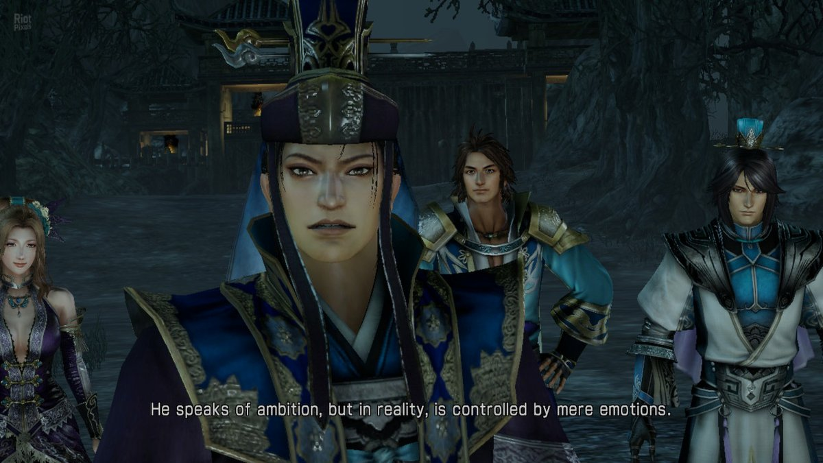 Screenshot of Dynasty Warriors 8 Xtreme Legends depicting a cutscene featuring the Sima famila.