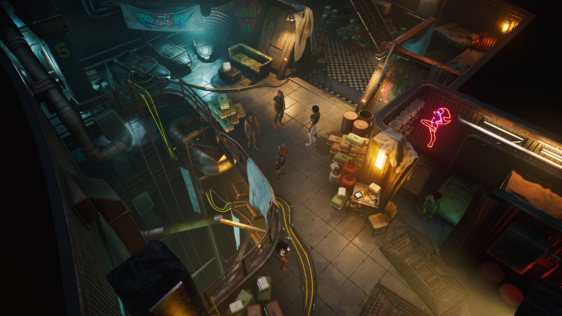 An overview of the seedy underworld in Gamedec.
