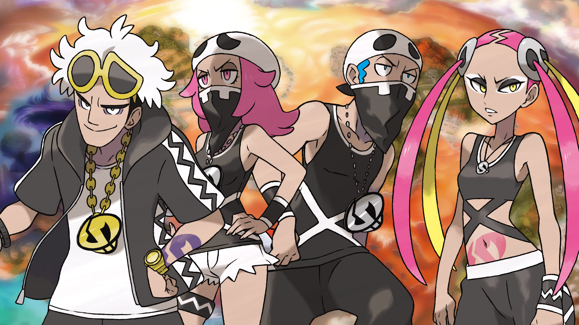 Pokémon Sun and Moon Team Skull