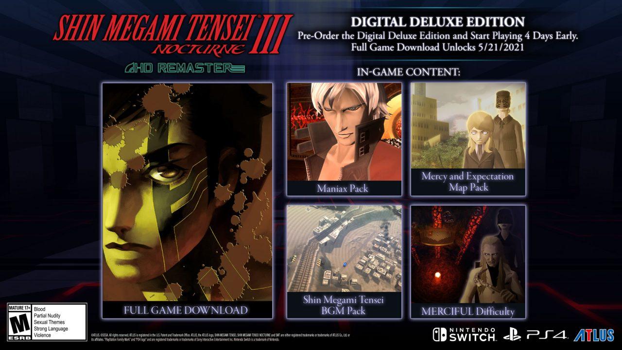 Image of the Digital Deluxe Edition For Shin Megami Tensei III: Nocturne HD Remaster
