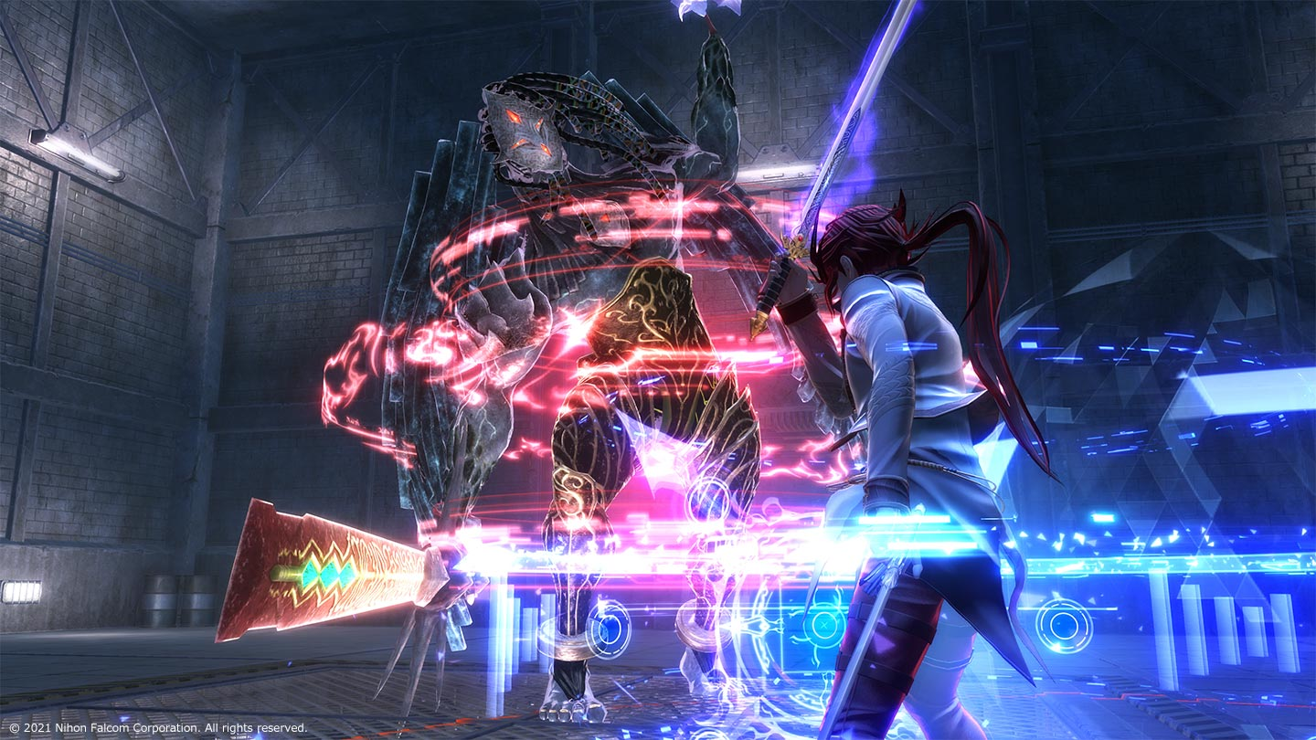 The Legend of Heroes: Kuro No Kiseki Character Fighting a Monster with a glowing sword.
