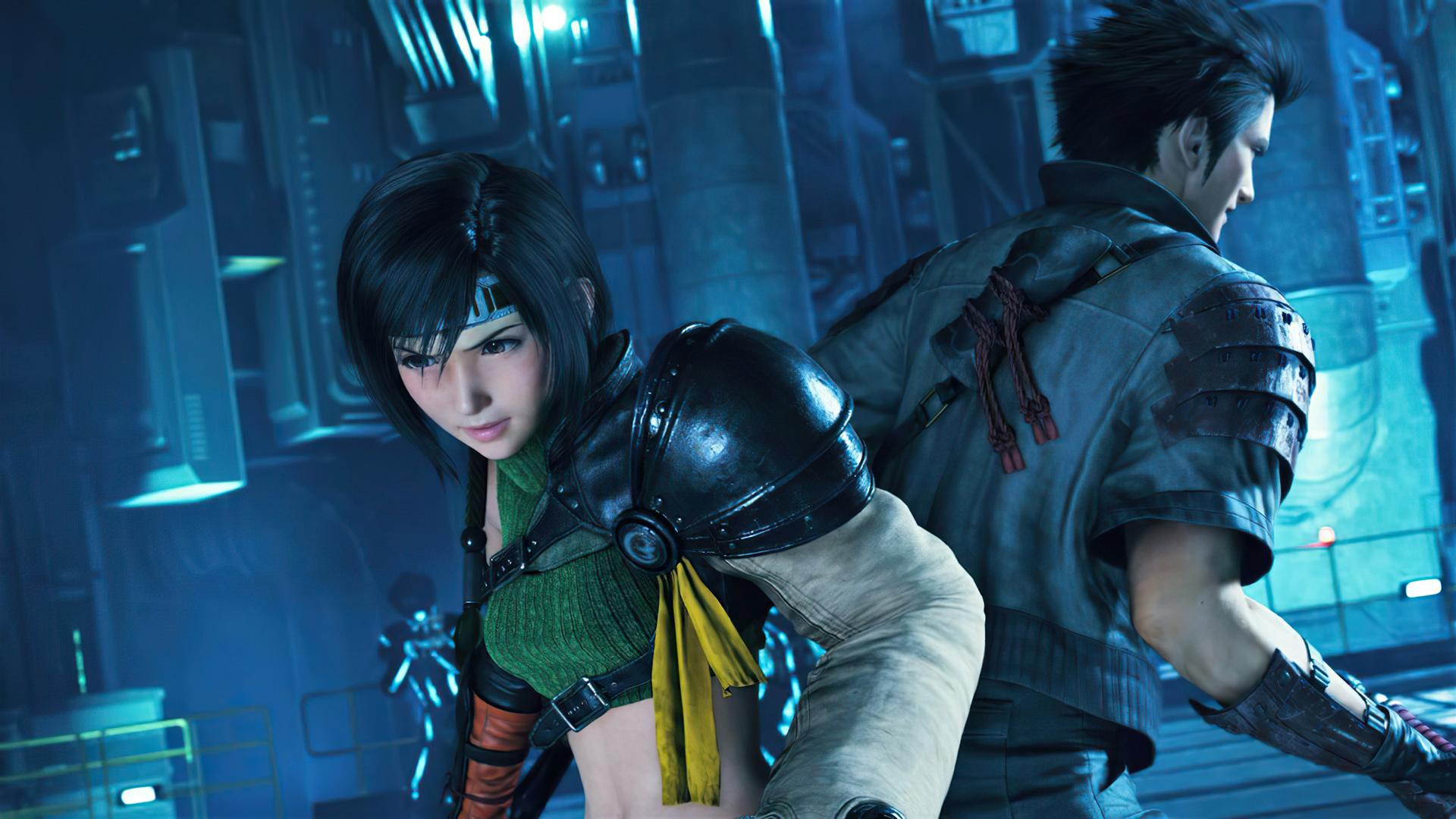 Final Fantasy VII Remake Intergrade hero image featuring Yuffie