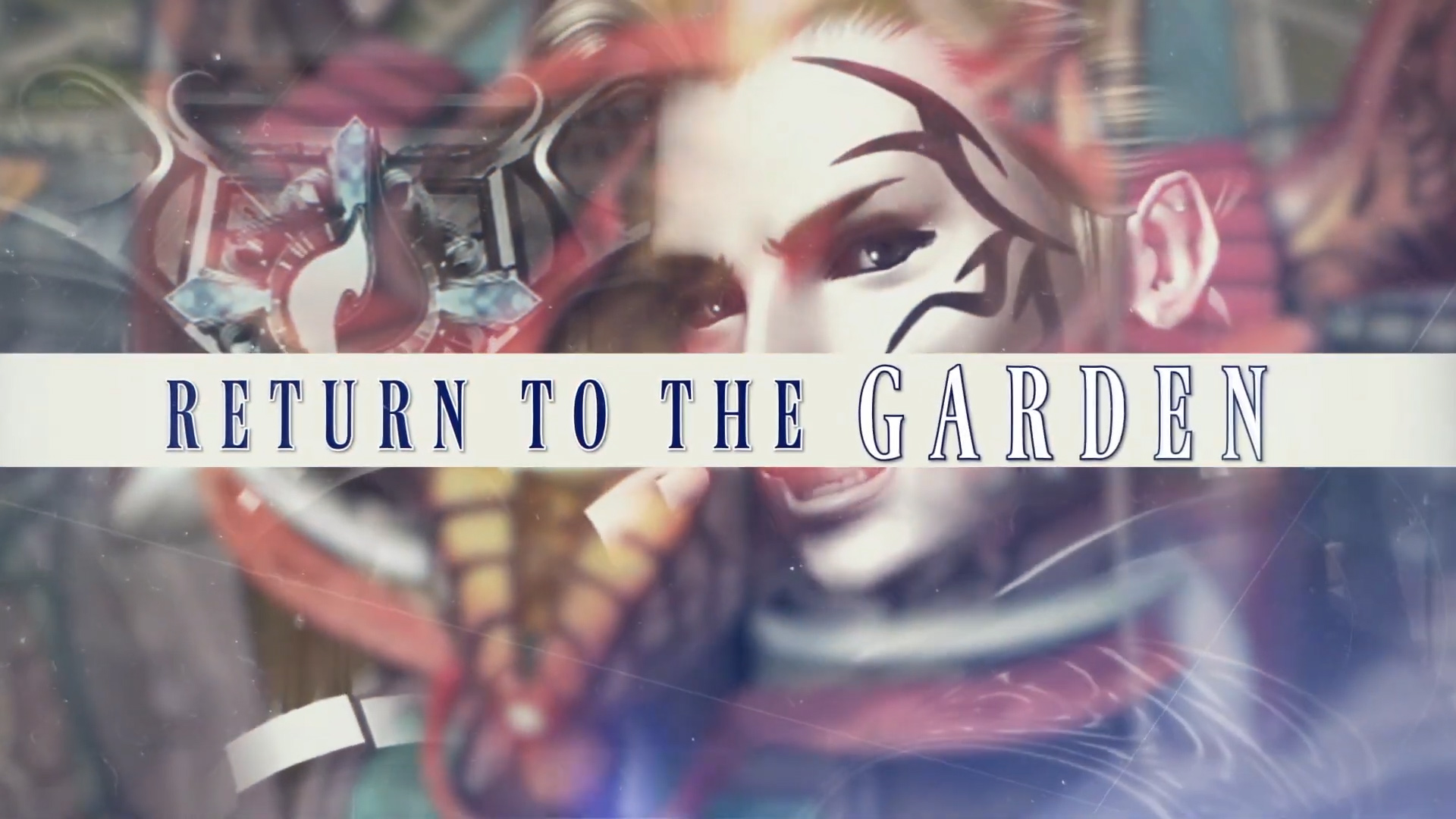Final Fantasy VIII Remastered graphic with smiling teenager with attitude and Return to the Garden text.