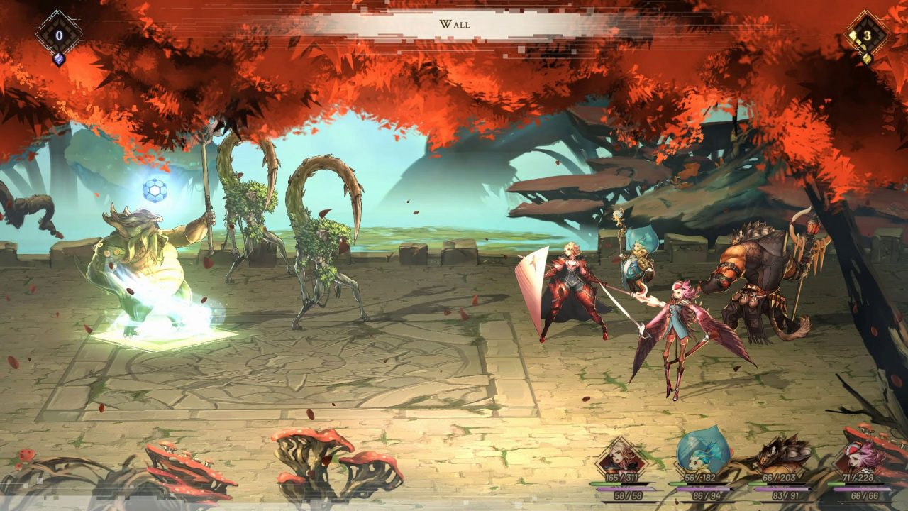 An enemy is hit with a spell in Astria Ascending.