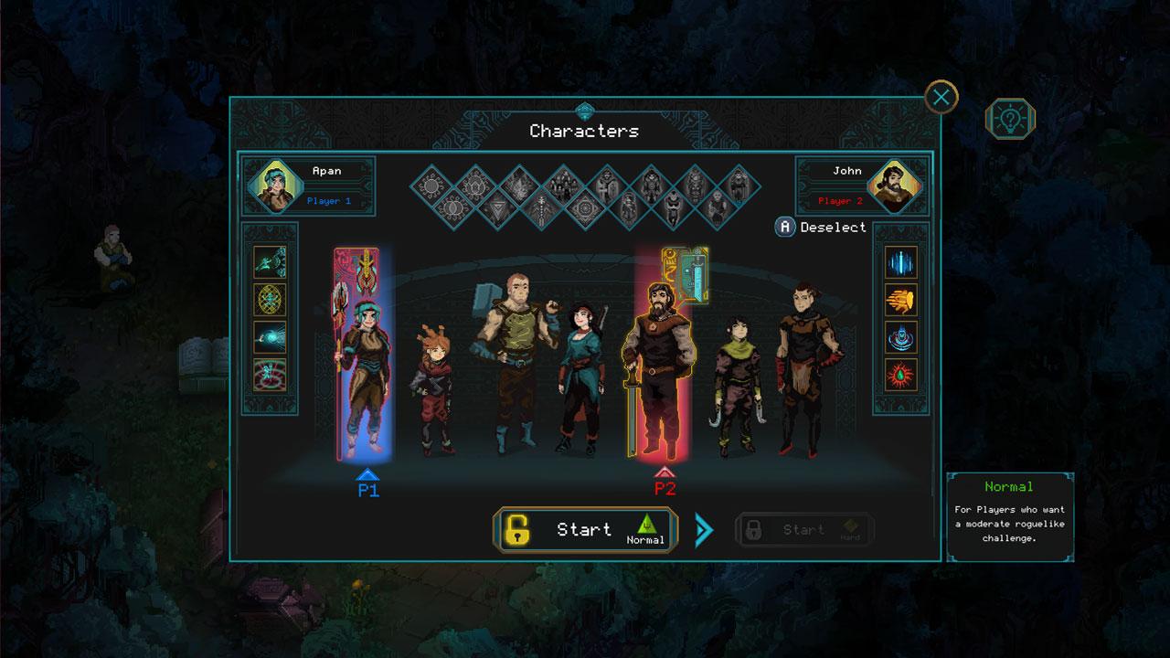 Chhildren of Morta Character Select Screen