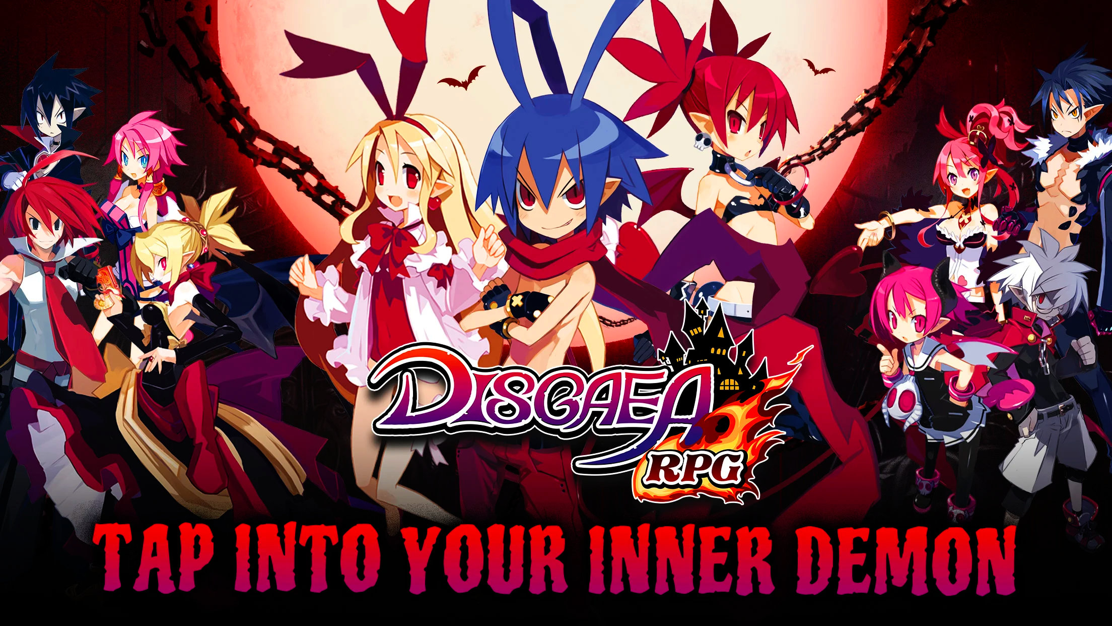 Disgaea RPG Cast Standing Together