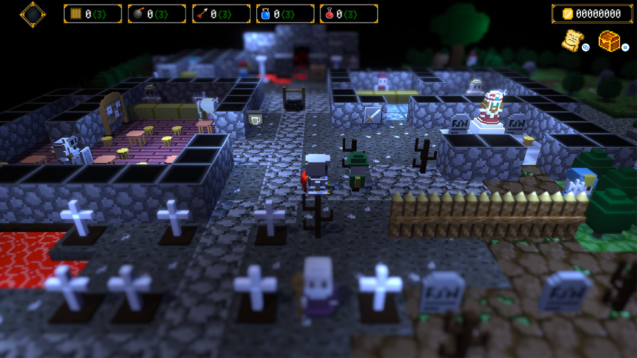 The toy-like world of Dungeon and Gravestone.