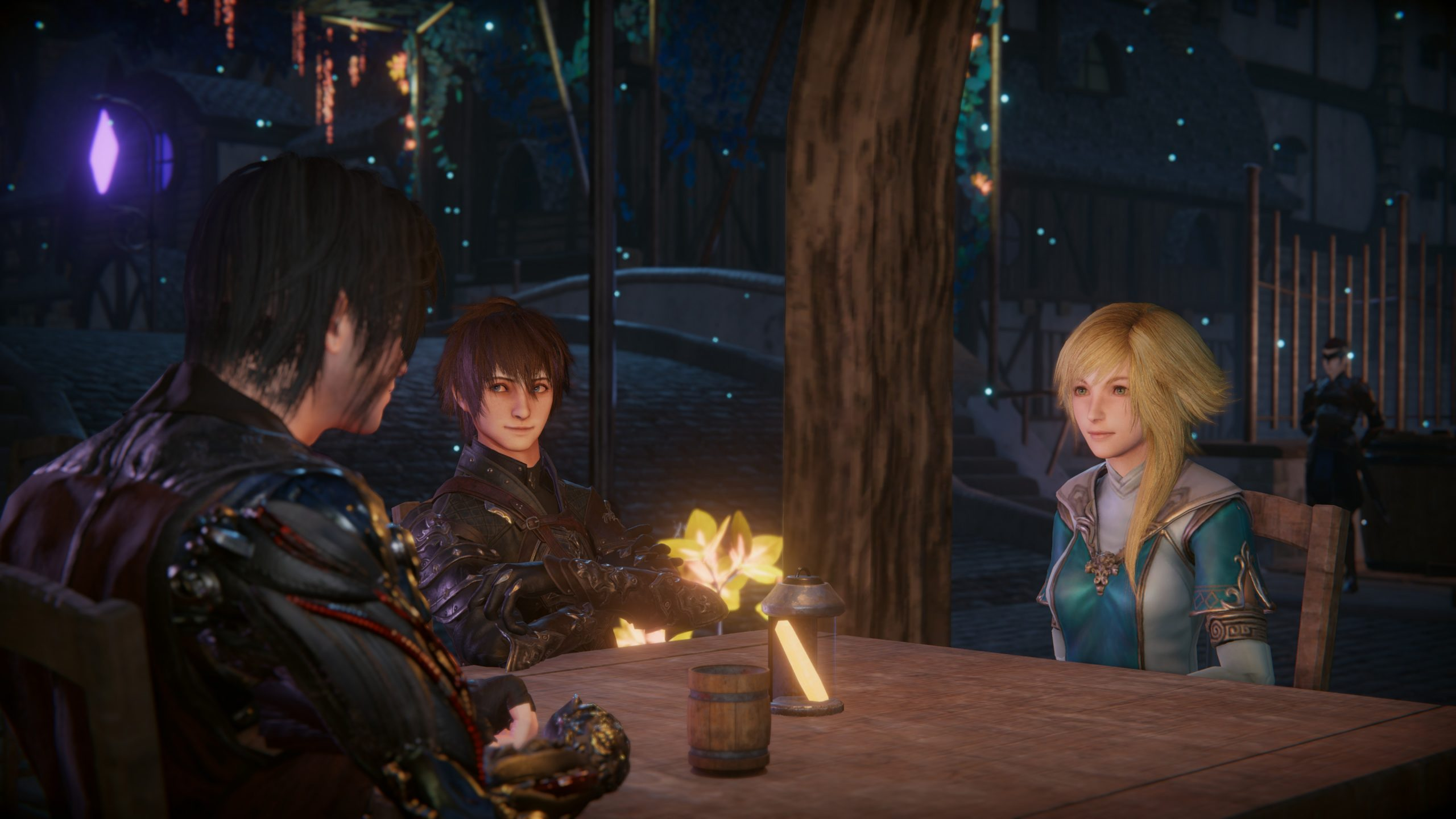 Screenshot From Edge of Eternity Featuring Main Cast Sitting At A Table