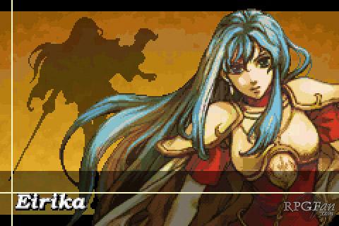 A screenshot of Eirika in Fire Emblem: The Sacred Stones