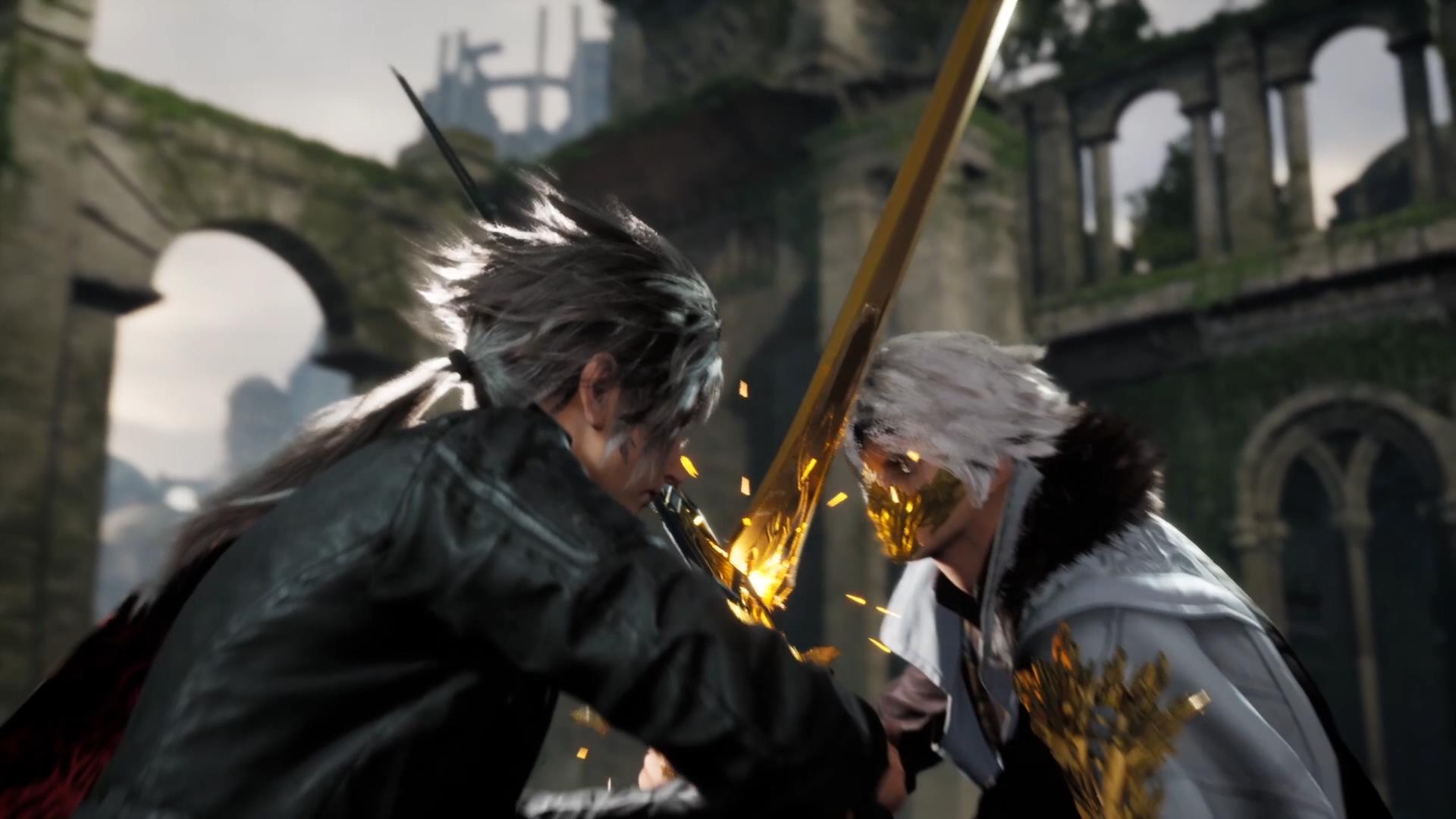 Screenshot From Lost Soul Aside Featuring Two Rivals Fighting