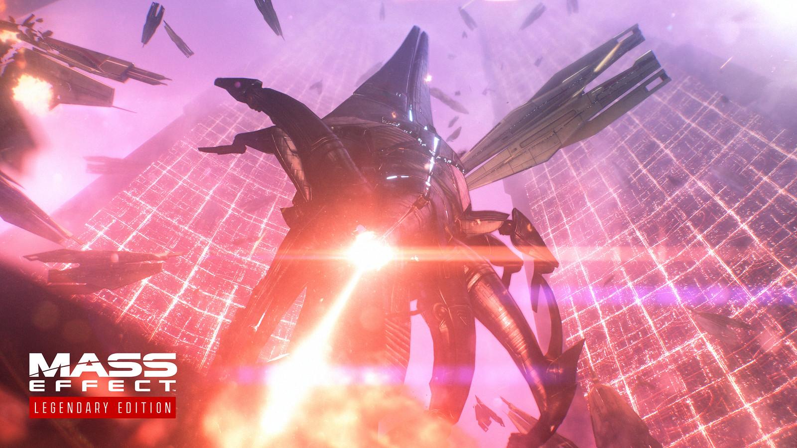 Sovereign assaults the Citadel in Mass Effect.