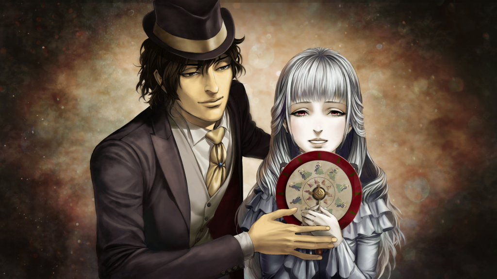 Two primary characters gaze into a mirror in The House of Fata Morgana: Dreams of the Revenants.