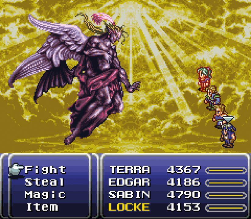 Final Fantasy VI Screenshot of God Kefka Battle