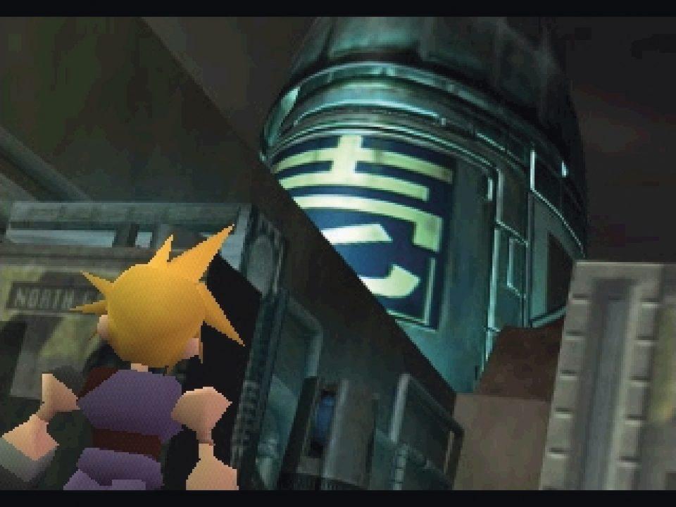 Final Fantasy VII Opening Cloud Looking at Shinra Building
