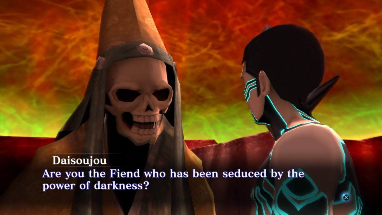 Are you the Fiend who has been seduced by the power of Darkness in Shin Megami Tensei III Nocturne HD Remaster?