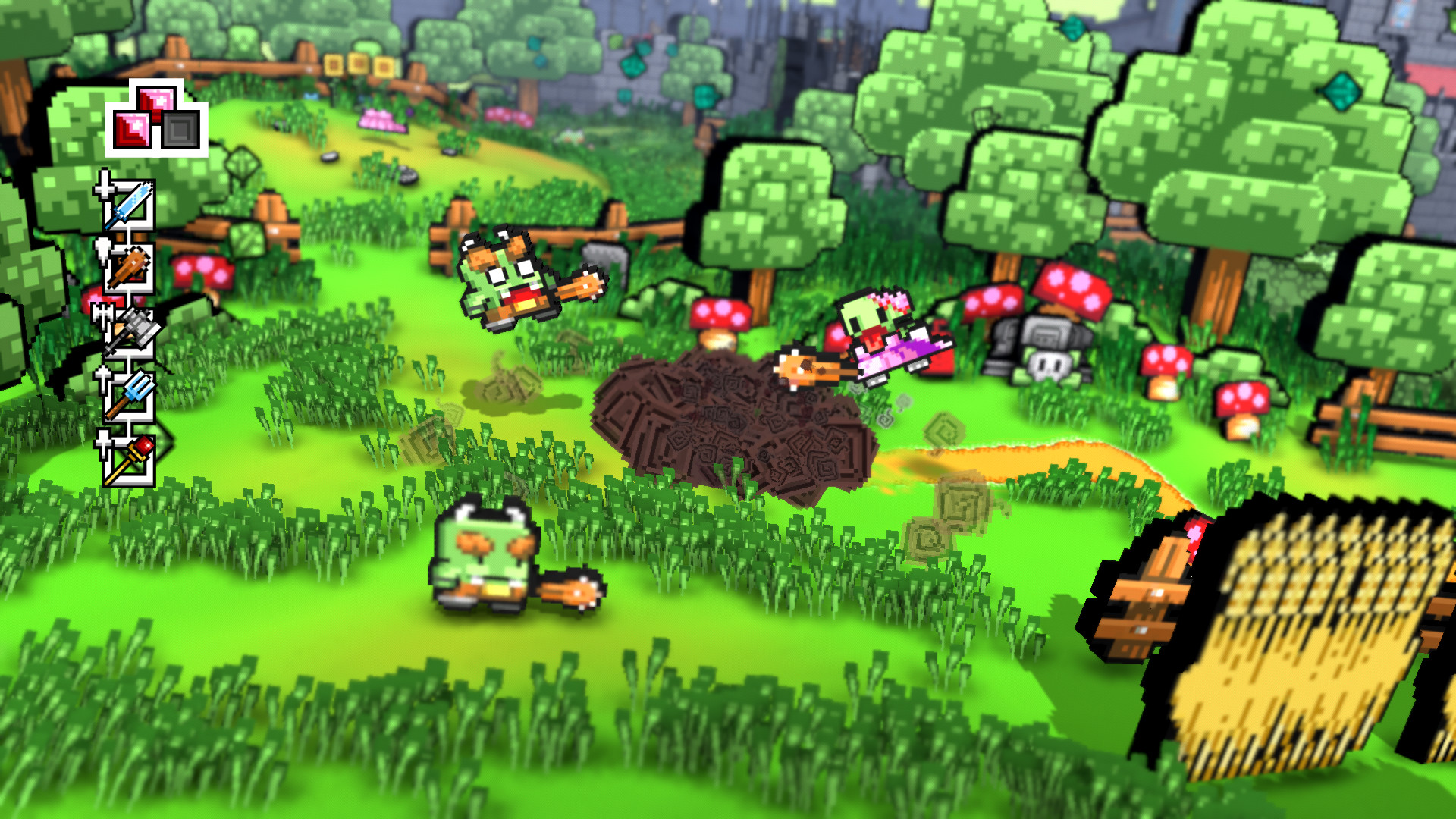 A look at the action-packed yet serene forest in Skellboy Refractured.