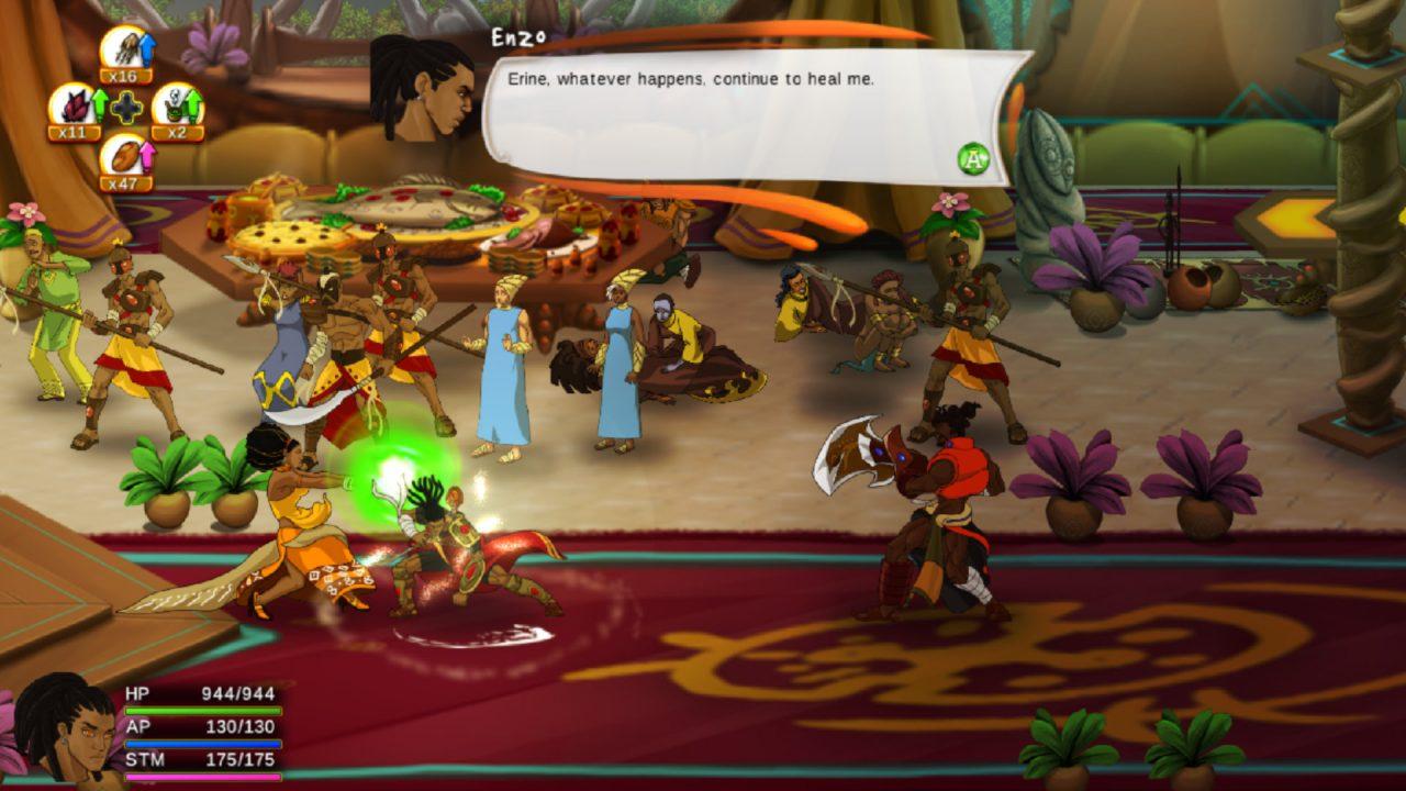 A battle screenshot from Aurion: Legacy of the Kori-Odan.