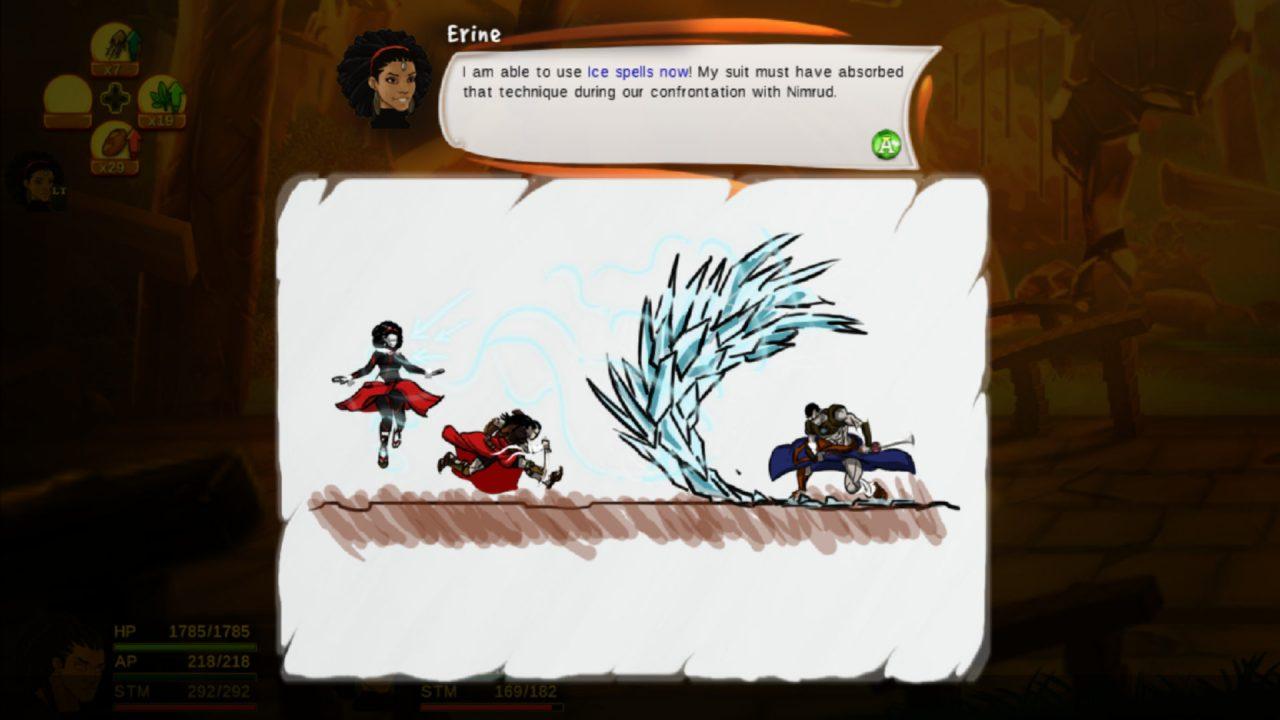 A tutorial screenshot from Aurion: Legacy of the Kori-Odan.