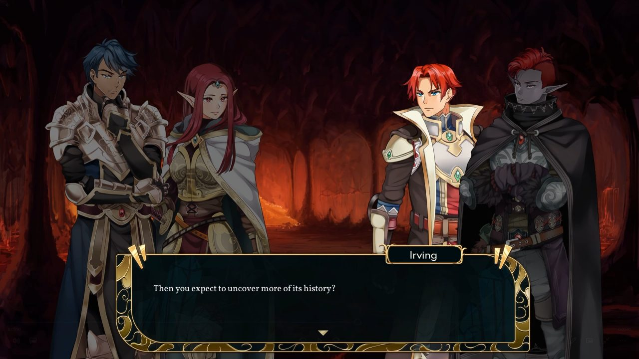 A story conversation about the importance of history in Dark Deity.