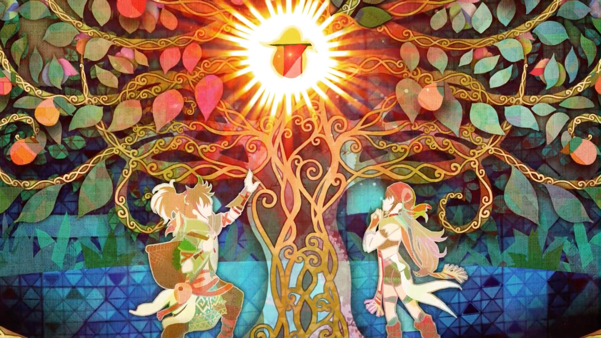 Beautiful art in Echoes of Mana